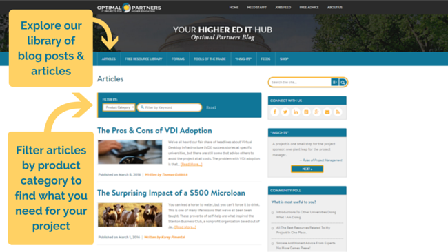 Higher Ed IT Articles