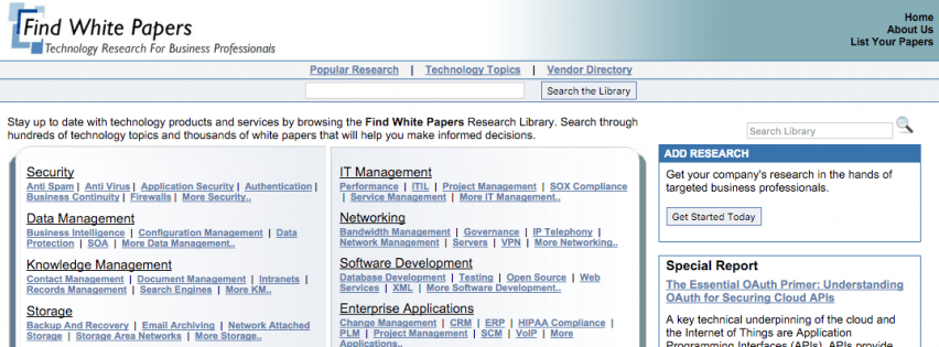 Higher Ed Whitepapers