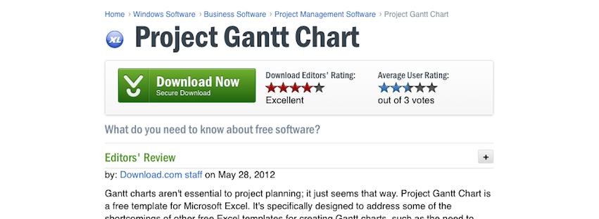 Free Gantt Chart Template