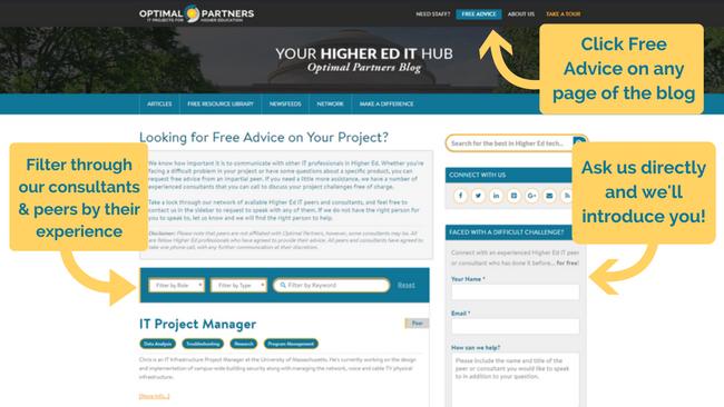 Higher Ed IT Advice